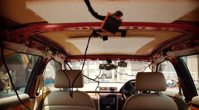 DIYで車のルーフライニング張替え