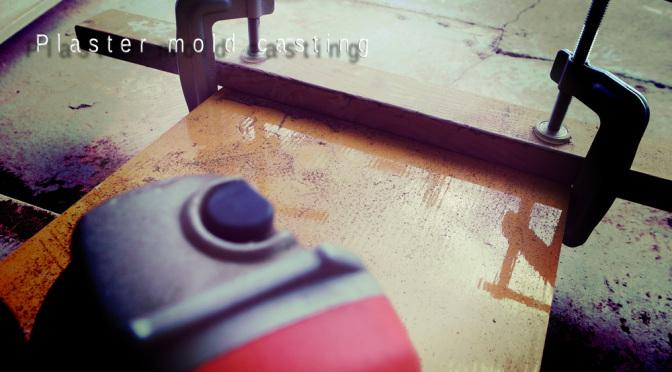 石膏型枠作りの準備 -Plaster mold casting-